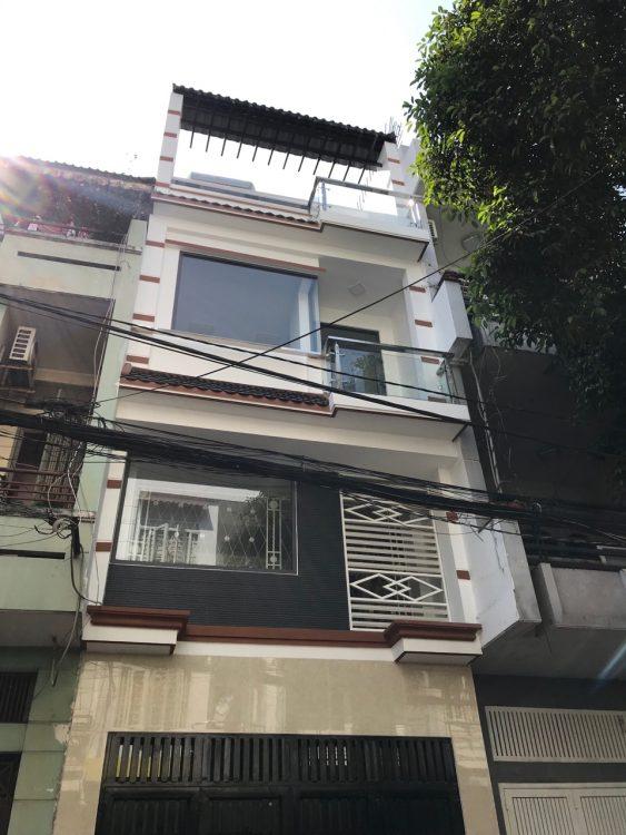 Bán nhà mặt tiền 1 trệt 2 lầu Phường 12 Tân Bình