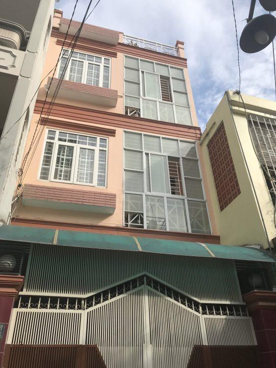Bán nhà mới xây đẹp (4x16m) giá 7,7 tỷ đường Lạc Long Quân khu công viên Tân Phước phường 9 TB