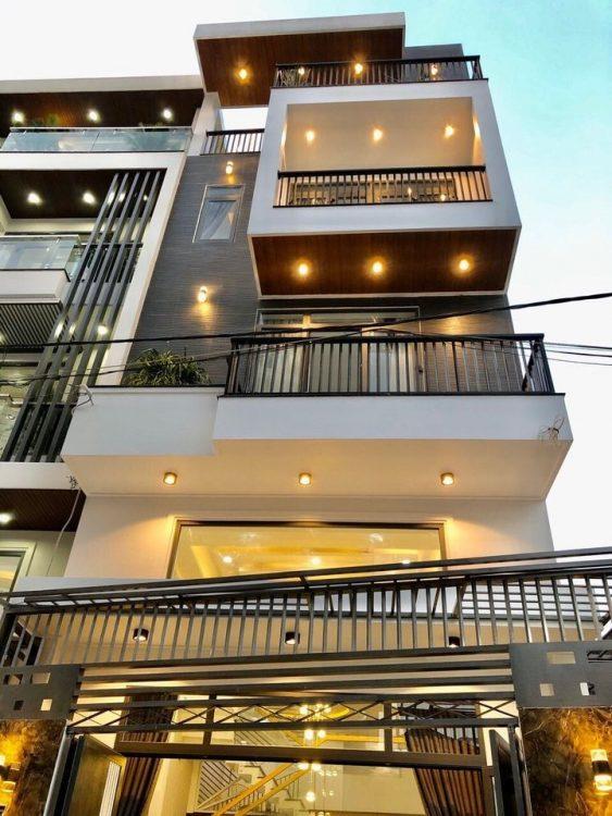 Nhà đẹp 5 tầng hẻm xe hơi thông đường Bàu Cát, DT: 4.1 x 18m, khu vip an ninh, giá sở hữu: 9,7 tỷ