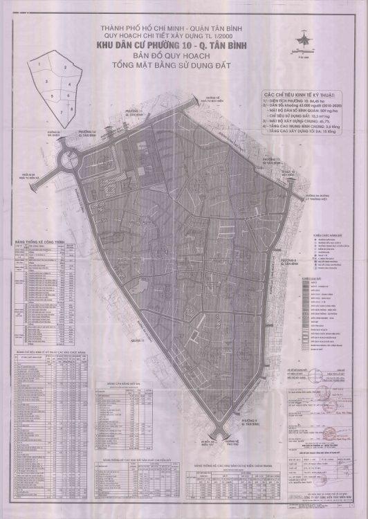 Bản đồ quy hoạch Phường 10