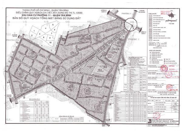 Bản đồ quy hoạch Phường 11