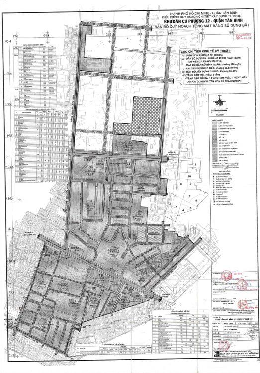 Bản đồ quy hoạch Phường 12