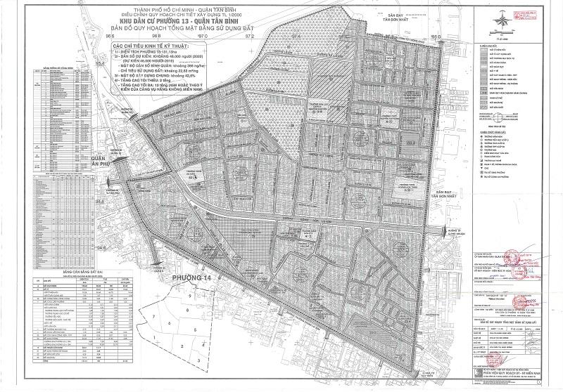 Bản đồ quy hoạch Phường 13