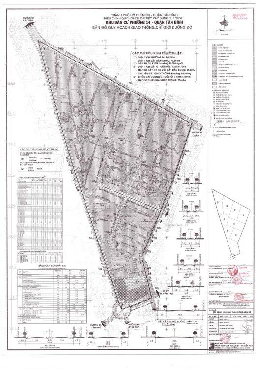Bản đồ quy hoạch Phường 14