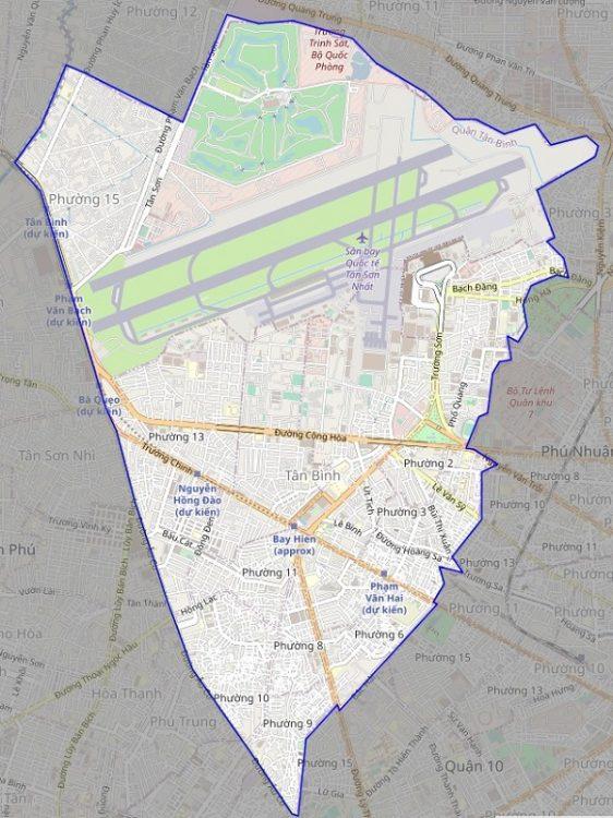 Bản đồ quận Tân Bình về giao thông