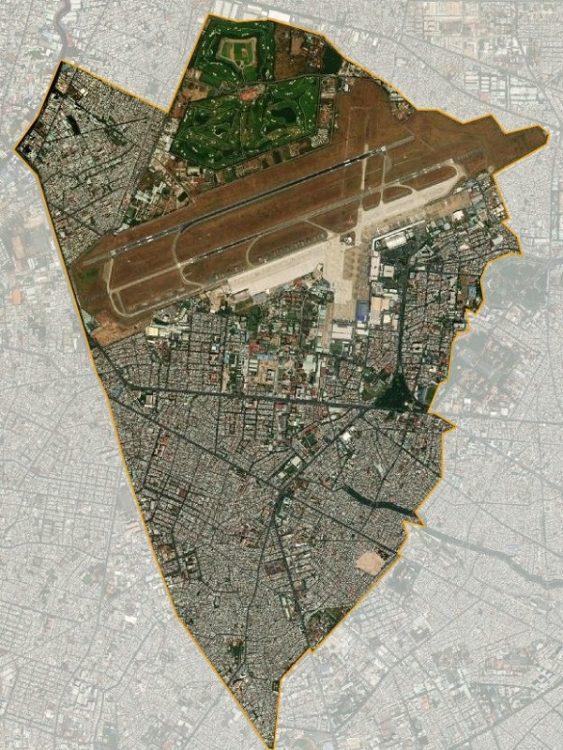 Bản đồ quận Tân Bình từ vệ tinh