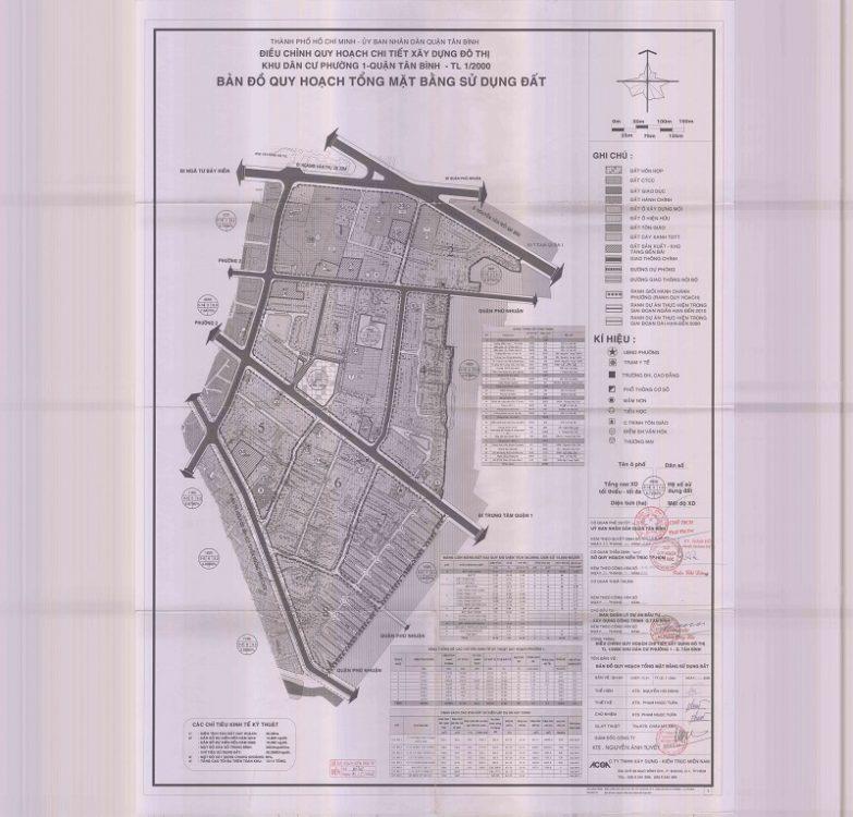 Bản đồ quy hoạch Phường 1