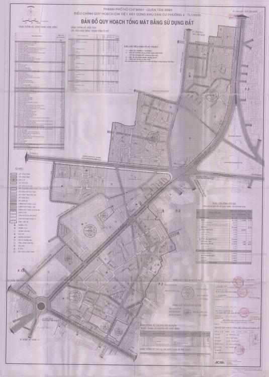 Bản đồ quy hoạch Phường 4