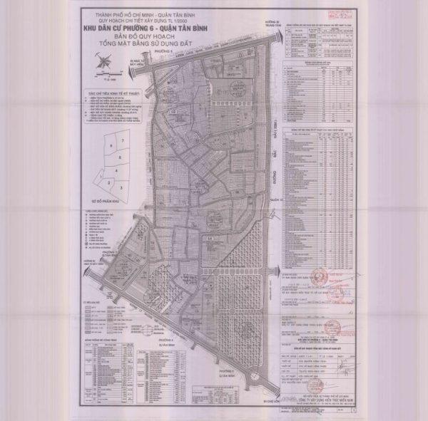 Bản đồ quy hoạch Phường 6