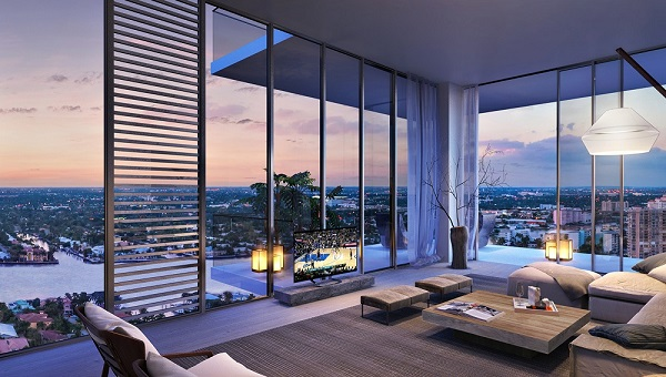 Cửa sổ trong các Penthouses được thiết kế lớn giúp tăng tầm nhìn